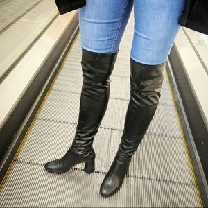 New Zara Over The Knee High Heel Boots